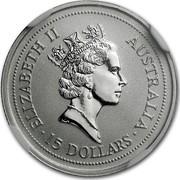 Australia 15 Dollars (Koala) KM# 345 coin reverse