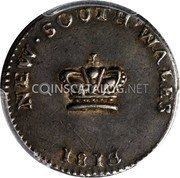Australia 15 Pence Dump 1813 KM# 1.2 NEW SOUTH WALES coin obverse
