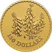 Australia 150 Dollars Common Heath Flower 1999 KM# 475 150 DOLLARS HH coin reverse