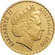 Australia 150 Dollars Cooktown Orchid 2000 KM# 513 ELIZABETH II AUSTRALIA 2000 IRB coin obverse