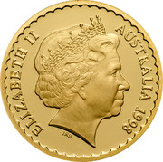 Australia 150 Dollars Stuart Desert Pea 1998 KM# 413 ELIZABETH II AUSTRALIA 1998 IRB coin obverse