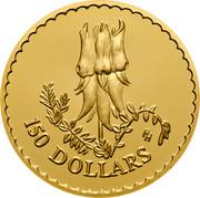 Australia 150 Dollars Stuart Desert Pea 1998 KM# 413 150 DOLLARS HH coin reverse