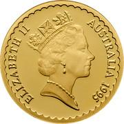 Australia 150 Dollars The Waratah Flower 1995 KM# 309 ELIZABETH II AUSTRALIA 1995 RDM coin obverse