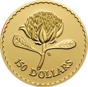 Australia 150 Dollars The Waratah Flower 1995 KM# 309 150 DOLLARS HH coin reverse