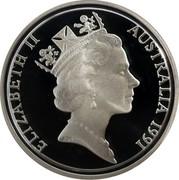 Australia 2 Cents Frilled-Neck Lizard 1991 KM# 79a ELIZABETH II AUSTRAIA 1991 RDM coin obverse