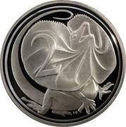 Australia 2 Cents Frilled-Neck Lizard 1991 KM# 79a 2 SD coin reverse