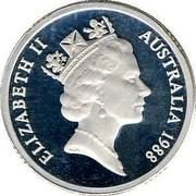 Australia 2 Dollars Aboriginal Elder 1988 KM# 101a ELIZABETH II AUSTRALIA 1988 RDM coin obverse