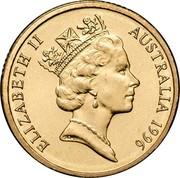 Australia 2 Dollars Aboriginal Elder 1996 KM# 101 ELIZABETH II AUSTRALIA 1988 RDM coin obverse