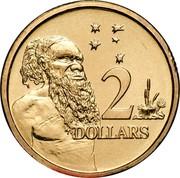 Australia 2 Dollars Aboriginal Elder 1996 KM# 101 2 DOLLARS HH coin reverse