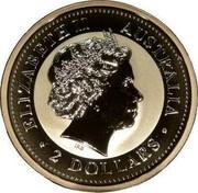 Australia 2 Dollars Kookaburra 1999 KM# 417.3 ELIZABETH II AUSTRALIA 2 DOLLARS coin obverse