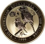 Australia 2 Dollars Kookaburra 1999 KM# 417.3 THE AUSTRALIAN KOOKABURRA 2OZ. 999 SILVER 1999 coin reverse