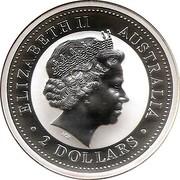 Australia 2 Dollars Kookaburra. USA State Quarters - 2000 2000 KM# 616 ELIZABETH II AUSTRALIA IRB 2 DOLLARS coin obverse
