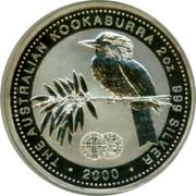 Australia 2 Dollars The Australian Kookaburra 2000 Hammered Silver King Edward Penny Privy KM# 417 THE AUSTRALIAN KOOKABURRA 1 OZ. 999 SILVER *YEAR* P100 coin reverse
