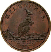 Australia 2 Pence 1851 KM# Tn246 Private Token issues MELBOURNE. W.J. TAYLIE, MEDALLIST TO THE GREAT EXHIBITION 1851 coin reverse