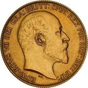 Australia 2 Pounds Coronation 1902 KM# 16 EDWARDVS VII D: G: BRITT: OMN: REX F: D: IND: IMP: DES. coin obverse