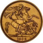 Australia 2 Pounds Coronation 1902 KM# 16 S S B.P. 1902 coin reverse