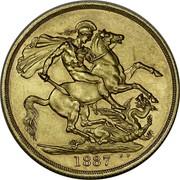 Australia 2 Pounds Victoria Queen. 50th Anniversary of Reign 1887 KM# 8 S B.P. 1887 coin reverse