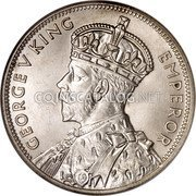Australia 2 Shillings (1 Florin) Victoria and Melbourne Centenary ND (1934-1935) Proof KM# 33 GEORGE V KING EMPEROR coin obverse