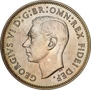 Australia 2 Shillings 50 Years of Federation (Pattern) 1951(L) Proof KM# 47a GEORGIVS VI D:G:BR:OMN:REX FIDEI DEF. HP coin obverse