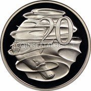 Australia 20 Cents Platypus 1984 Proof KM# 66 20 SD coin reverse