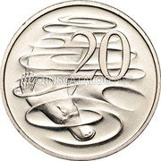 Australia 20 Cents Platypus 1998 KM# 82 20 SD coin reverse