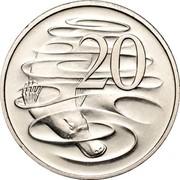 Australia 20 Cents Platypus 1998 KM# 82 20 SD coin reverse