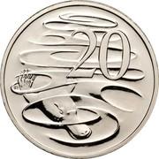 Australia 20 Cents Platypus 2010 Proof KM# 403 20 SD coin reverse