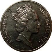 Australia 20 Cents United Nations 1995 KM# 295 ELIZABETH II AUSTRALIA 1995 RDM coin obverse