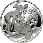 Australia 20 Dollars Olympic swimming 1993 KM# 219 1896-1996 coin reverse