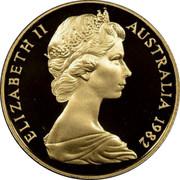 Australia 200 Dollars Commonwealth Games Brisbane 1982 KM# 76 ELIZABETH II AUSTRALIA 1982 RDM coin obverse