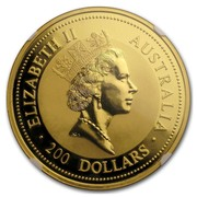 Australia 200 Dollars The Australian Nugget 1994 KM# 182 ELIZABETH II AUSTRALIA 200 DOLLARS RDM coin obverse