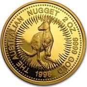 Australia 200 Dollars The Australian Nugget 1998 KM# 238 THE AUSTRALIAN NUGGET 2 OZ. 9999 GOLD 1998 coin reverse