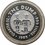 Australia 25 Cents The Dump 1988 KM# 113 QUARTER OZ THE DUMP 999 SILVER 1988 coin reverse