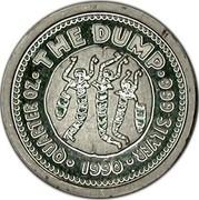 Australia 25 Cents The Dump 1990 KM# 155 QUARTER OZ THE DUMP 999 SILVER 1990 coin reverse