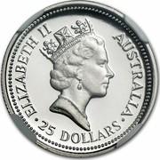 Australia 25 Dollars Koala 1992 KM# 172 ELIZABETH II AUSTRALIA 25 DOLLARS coin obverse