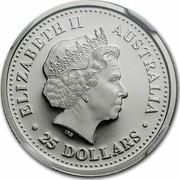 Australia 25 Dollars Koala 2000 KM# 471 ELIZABETH II AUSTRALIA 25 DOLLARS coin obverse