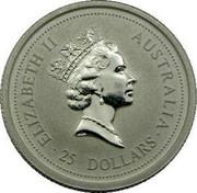 Australia 25 Dollars (Koala) KM# 285 coin reverse