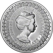 Australia 25 Dollars Princess Anne 1992 KM# 202 ELIZABETH 40TH ANNIVERSARY 25 DOLLARS SD coin reverse