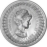 Australia 25 Dollars Princess Diana 1992 KM# 201 ELIZABETH 40TH ANNIVERSARY 25 DOLLARS SD coin reverse