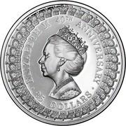 Australia 25 Dollars Princess Margaret 1992 KM# 203 ELIZABETH 40TH ANNIVERSARY 25 DOLLARS SD coin reverse