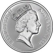 Australia 25 Dollars Queen Mother 1992 KM# 200 ELIZABETH II AUSTRALIA 1992 RDM coin obverse