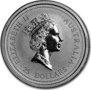 Australia 25 Dollars The Australian Koala 1994 KM# 251 ELIZABETH II AUSTRALIA 25 DOLLARS RDM coin obverse