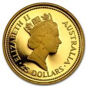 Australia 25 Dollars The Australian Nugget 1987 KM# 96 ELIZABETH II AUSTRALIA 25 DOLLARS RDM coin obverse