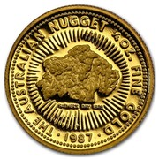 Australia 25 Dollars The Australian Nugget 1987 KM# 96 THE AUSTRALIAN NUGGET 1/4 OZ. FINE GOLD FATHER'S DAY 1979 P SD 1987 coin reverse