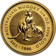 Australia 25 Dollars The Australian Nugget 1996 KM# 274 THE AUSTRALIAN NUGGET 1/4 OZ. 9999 GOLD *YEAR* coin reverse