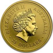 Australia 25 Dollars The Australian Nugget 1999 KM# 450 ELIZABETH II AUSTRALIA 25 DOLLARS IRB coin obverse