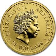 Australia 25 Dollars The Australian Nugget 2000 KM# 466 ELIZABETH II AUSTRALIA 25 DOLLARS IRB coin obverse