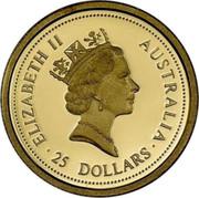 Australia 25 Dollars The Australian Nugget (Prospector Privy) 1996 KM# 322 ELIZABETH II AUSTRALIA 25 DOLLARS RDM coin obverse