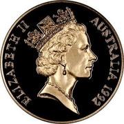 Australia 250 Dollars 40th Anniversary - Reign Princess Anne 1992 Proof KM# 206 coin obverse