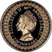 Australia 250 Dollars 40th Anniversary - Reign. Princess Margaret 1992 Proof KM# 207 coin reverse